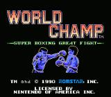 World Champ NES Title Screen