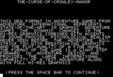 The Curse of Crowley Manor Apple II Instructions