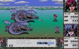 Branmarker 2 PC-98 Enemies look very cool. Viga and Lucia take on two dragons on the world map