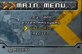ATV: Thunder Ridge Riders Game Boy Advance Menu screen.