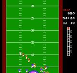 10-Yard Fight NES Being pursued by the defense after catching a pass