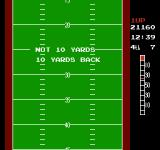10-Yard Fight NES Not getting a 4th down conversion sends the player back 10 yards