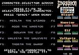 Garrison II: The Legend Continues Amiga Select your characters