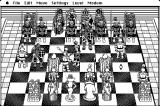 Battle Chess Macintosh Black and white pawns battle