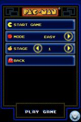 Pac-Man iPhone You can change the difficulty and the start level before each game.