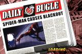 Spider-Man: Total Mayhem iPhone Daily Bugle headlines appear between levels.