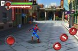 Spider-Man: Total Mayhem iPhone The controls are simple enough, one button for jump, attack and web.