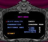Snow White in Happily Ever After SNES Players can choose a difficulty, a character and the controls of their choice in the options menu