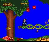 Snow White in Happily Ever After SNES Snow White gets dizzy after a tumbling down!