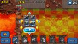 Mega Tower Assault J2ME The lava levels feature platforms that can be moved around by the player.