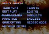 The King of Fighters '94 Re-bout PlayStation 2 Menu screen.