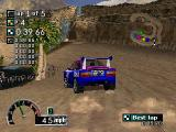 Rally Cross PlayStation There's some water in this desert level.