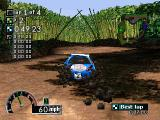 Rally Cross PlayStation In the mud.