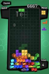 Tetris iPhone The blocks go flying as you clear them out.
