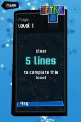 Tetris iPhone Magic mode, a combination of completion requirements and special abilities.