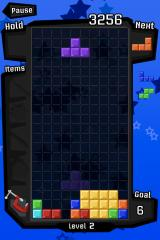 Tetris iPhone Drop or clear blocks, and the minimiser will appear on the left. Tap it to activate.