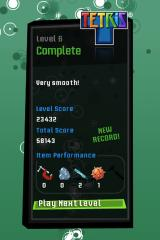Tetris iPhone More points are rewarded the fewer magic items you use per level.