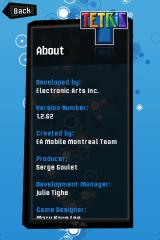 Tetris iPhone In-Game Credits