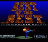 Best of the Best Championship Karate SNES Title Screen