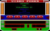 Las Vegas Video Poker DOS Title and Creator Information (EGA)