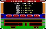 Las Vegas Video Poker DOS Select a coin value (EGA)