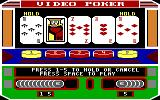 Las Vegas Video Poker DOS Hold the pair (EGA)