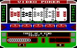 Las Vegas Video Poker DOS Winning three of a kind (EGA)