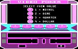 Las Vegas Video Poker DOS Select a coin value (CGA)