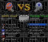 NFL Football SNES Main menu