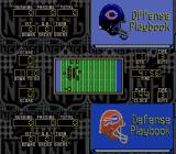 NFL Football SNES The screen where plays are selected