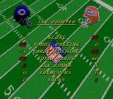 NFL Football SNES Game stats appear after each quarter