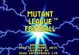 Mutant League Football Genesis Title Screen