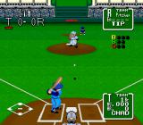 Nolan Ryan's Baseball  SNES A pitch being thrown