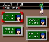 Nolan Ryan's Baseball  SNES Selecting a pinch hitter