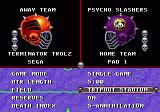 Mutant League Football Genesis Main Menu