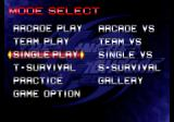 The King of Fighters 2003 PlayStation 2 Menu screen.