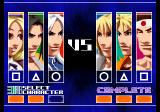 The King of Fighters 2003 PlayStation 2 Setting the battle order.
