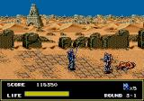 Mazin Saga: Mutant Fighter Genesis Not much left of Europe in this game.