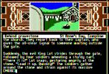 Arthur: The Quest for Excalibur Apple II Hiding behind gravestone