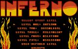 Inferno Atari ST Main menu