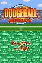 Super Dodgeball Brawlers Nintendo DS Title screen.