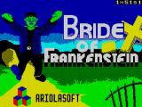 Bride of Frankenstein ZX Spectrum Loading screen