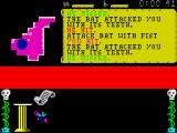 Master of Magic ZX Spectrum Fighting a bat
