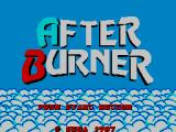 After Burner SEGA Master System Title Screen