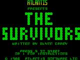 The Survivors ZX Spectrum Title screen