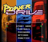 Power Drive SNES Main menu