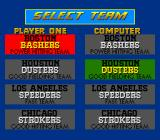 Relief Pitcher SNES Select a team