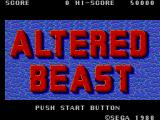 Altered Beast SEGA Master System Title Screen