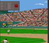 Relief Pitcher SNES Hit the ball high into the outfield