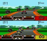 Road Riot 4WD SNES Rounding a curve